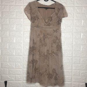 Apt 9 Petite chiffon floral sheer layer dress